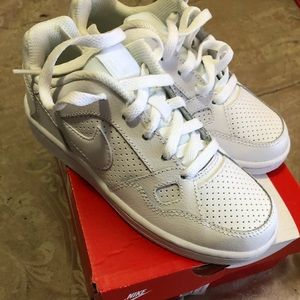 Kids Nike white shoes size 12c